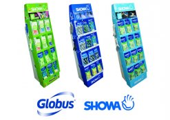 New pre-loaded, floor-standing units from Globus display popular SHOWA gloves perfectly